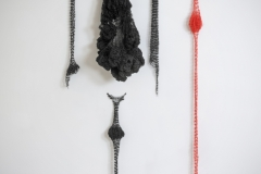 Knitting Bodies, wax thread,  variable size,  2012